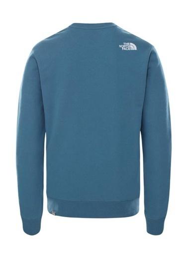 The North Face Drew Peak Crew Erkek Sweatshirt Mavi Renkli